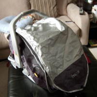 Review: Brica Infant Comfort Canopy Car Seat Cover