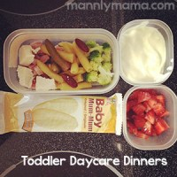 Toddler Dinners: Daycare Grub