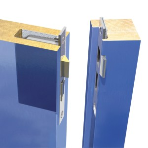 Pyrocatch intumescent kit on door catch and plate