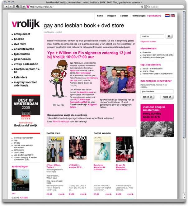 vrolijk webshop homepage