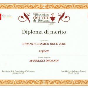 VIII SELEZIONE DEI VINI DI TOSCANA  CEPPETO 2006