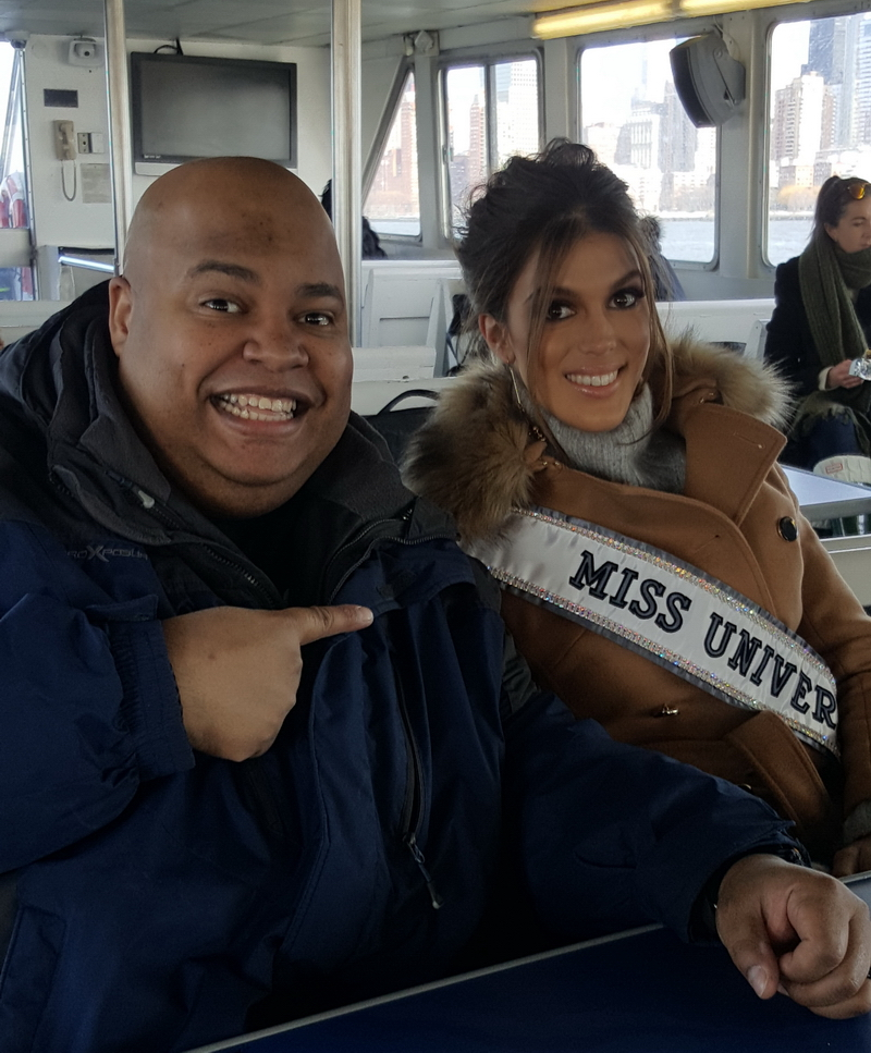 Miss Universe 2016 Iris Mittenaere with MannyZoom