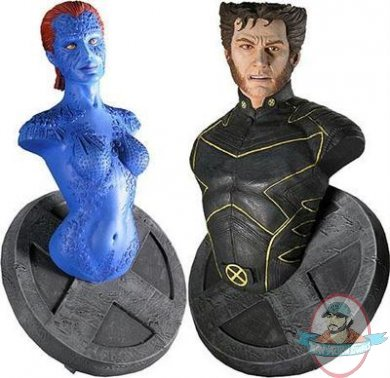 Marvel Exclusive X Men Mini Bust Set Wolverine Mystique