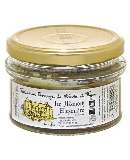 terrine bio au fromage de chevre et thym le manoir alexandre