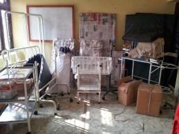 Livraison de la première partie du matériel médical du nouveau dispensaire (ALBUS)