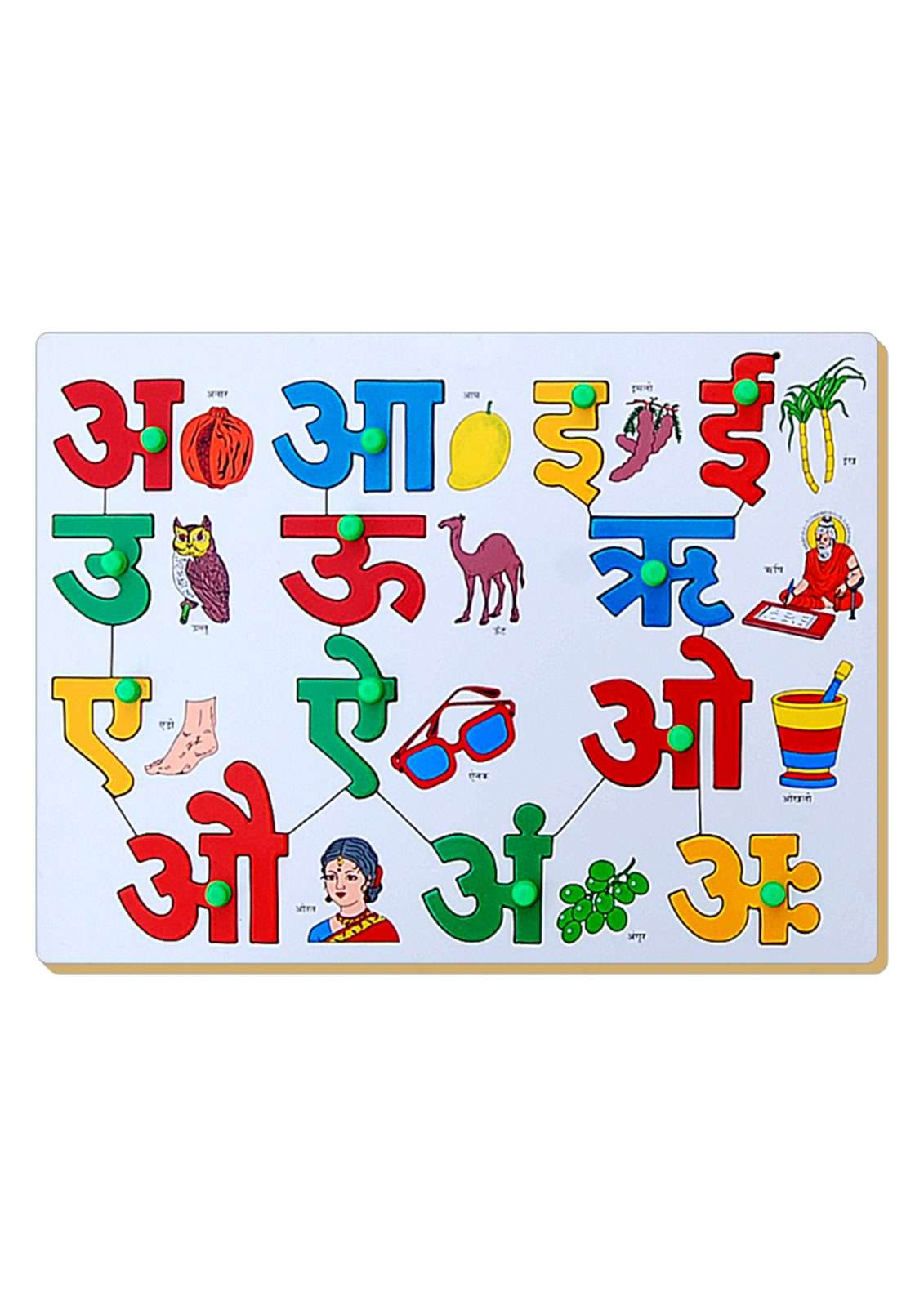 Hindi Alphabets With Pictures Printable