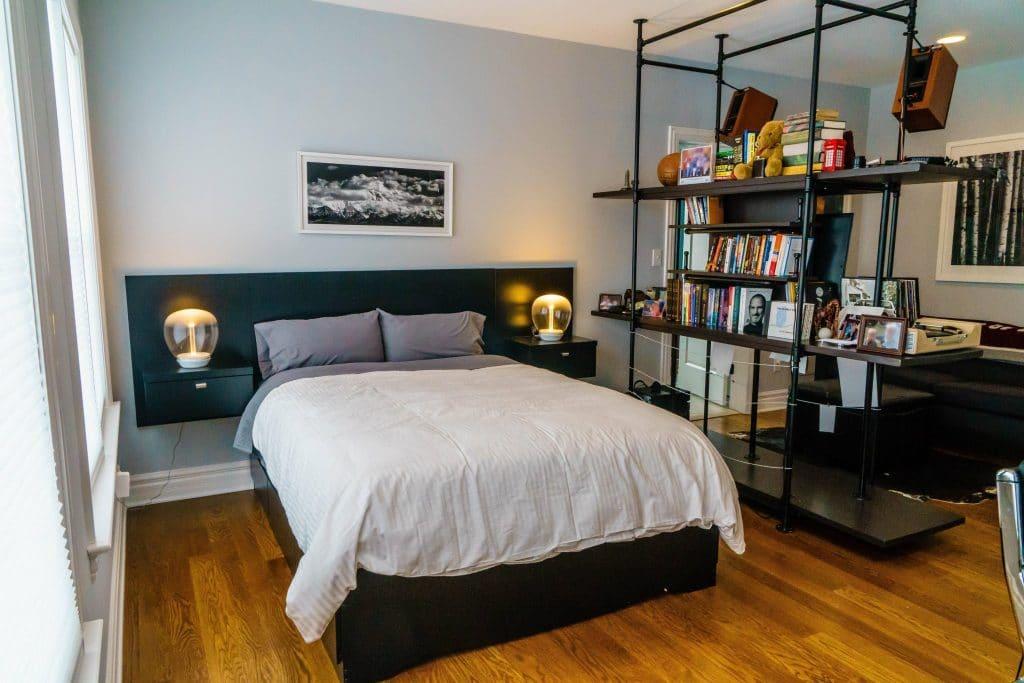 10 Minimalist Bedroom Examples for Men - Manored on Neutral Minimalist Bedroom Ideas  id=86428