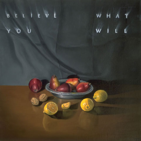 Believe What You Will, 2002, oil/canvas, 12 x 12