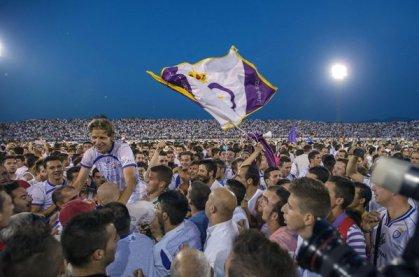 Celebración del ascenso en Jaén Foto: mundodeportivo.com