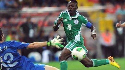 Abdul Ajagun durante el Mundial Sub'20 con Nigeria Foto: www.nigeriafootball.com