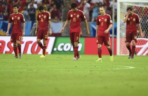 España derrotada asume su triste eliminación en Brasil 2014 Foto: altaspursaciones.com