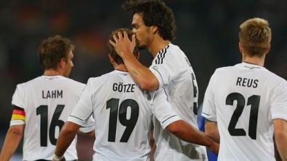 Mario Götze de falso nueve fue una de las últimas probaturas de Joachim Löw Foto: uefa.com