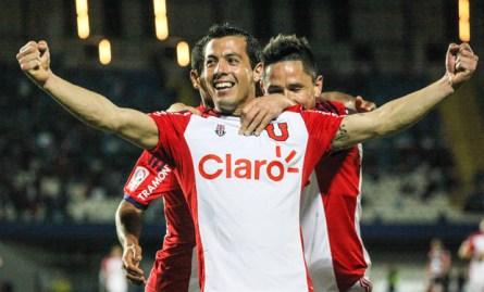Ubilla celebra uno de sus goles ante Antofagasta Foto: latercera.com