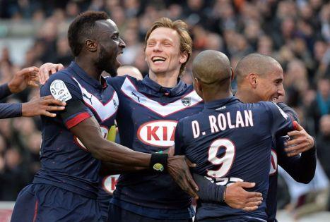 Sané, Plasil, Khazri y Diego Rolan celebran uno de los tantos al PSG Foto: futbol.as.com