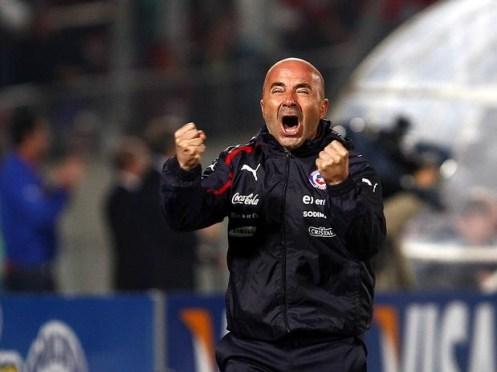 Jorge Sampaoli celebra uno de los goles de su equipo Foto: diarioeldia.cl