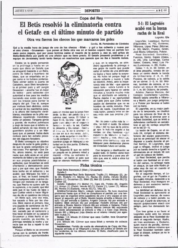 Fuente: ABC 5 de Diciembre de 1991