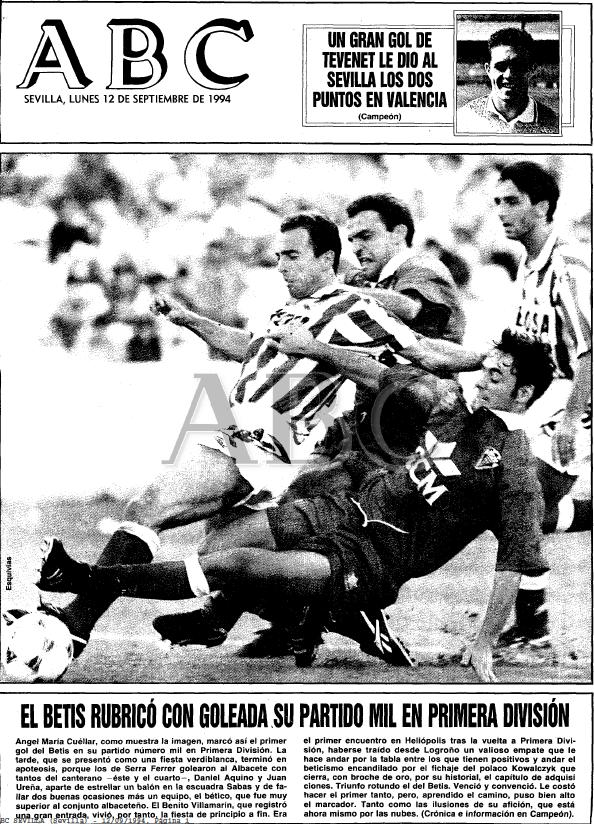Fuente: ABC 12 de Septiembre de 1994