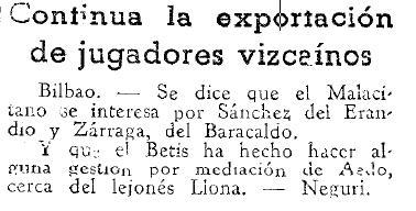 Fuente: El Mundo Deportivo 8 de Julio de 1936