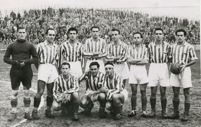 Alineación Ath.Bilbao-Betis Liga 1939 (NMP) Marca 19-12-1939