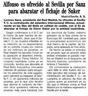 1995 Alfonso ofrecido al Sevilla