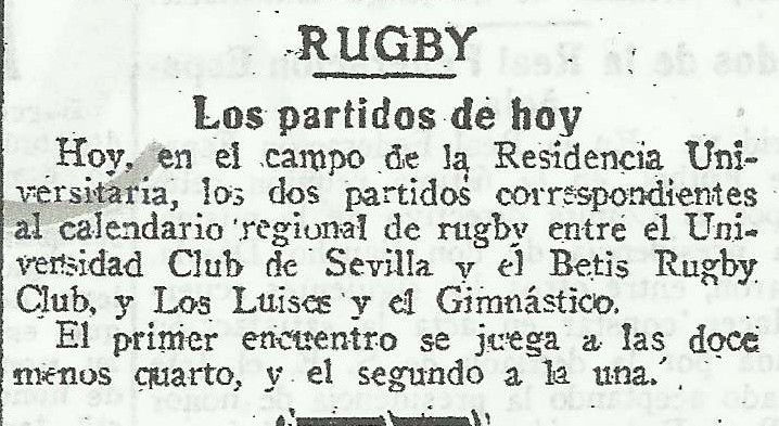 RUGBY BETIS 1952