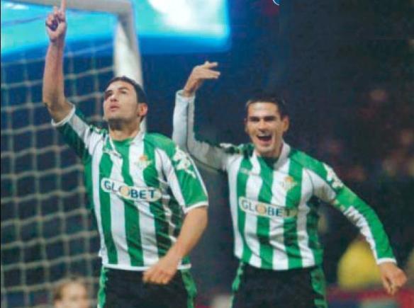 Melli celebra el gol que clasifica al Betis