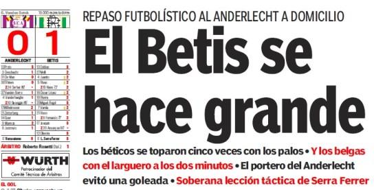 Anderlecht-Betis 29-09-2005 Titular