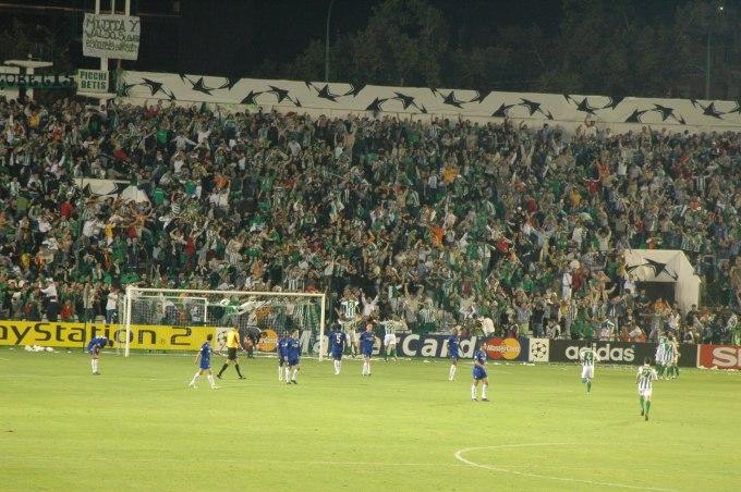 Celebración del gol del Betis