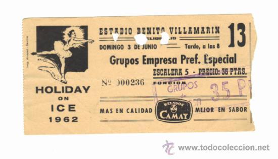Entrada domingo 03-06-1962.-fuente todocolección.