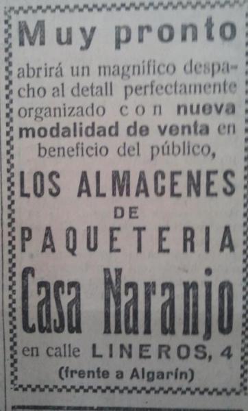 Paquetería Casa Naranjo