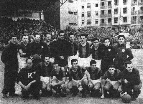 San Lorenzo de Almagro en San Mamés en enero de 1947