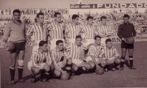 Alineación Betis-Racing Santander Amistoso 1955