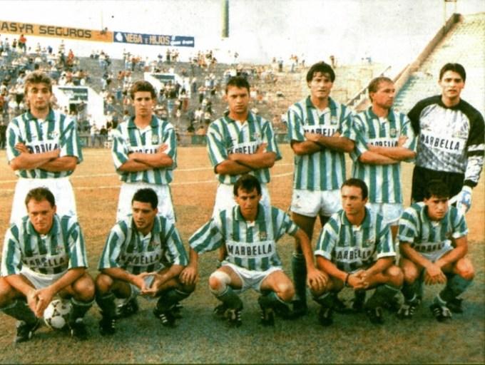 Alineación Betis-Vasco Gama Ciudad de Sevilla 1992