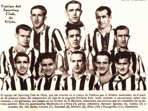 Una imagen del Sporting de Gijón en la temporada 1933-34