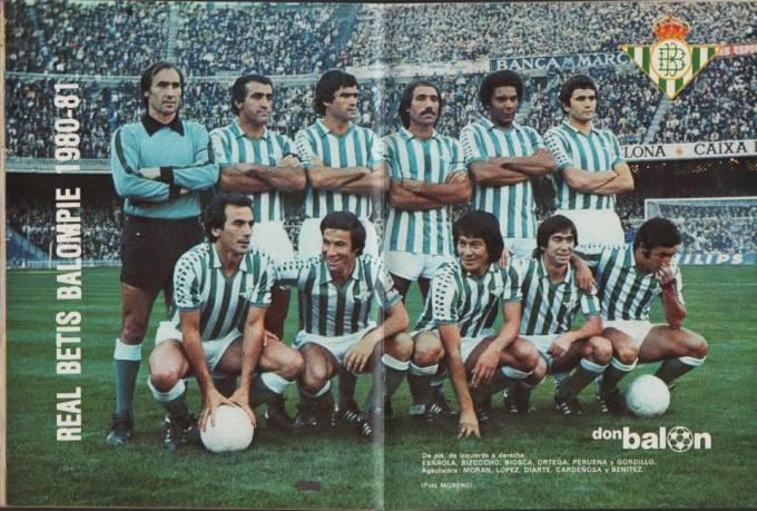 Alineación Barcelona-Betis Liga 1980-1