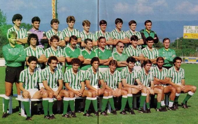 Plantilla del Betis en Cataluña 1984
