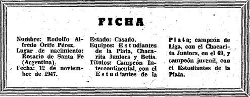 Figuras del Fútbol Rodolfo Orife-ficha