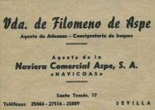 Filomeno De Aspe (Viuda)