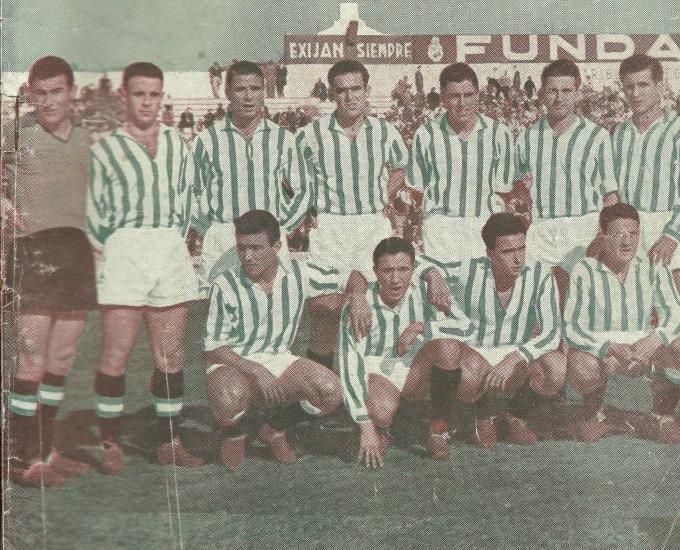 Alineación Betis-Plus Ultra Liga 1956