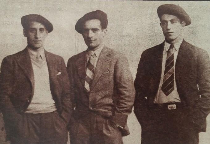 Ciriaco, Roberto y Muguerza, internacionales eibarreses