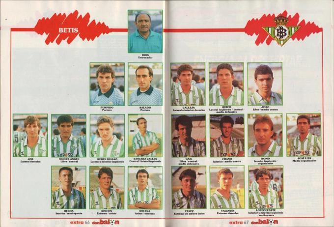 Betis plantilla 88-89