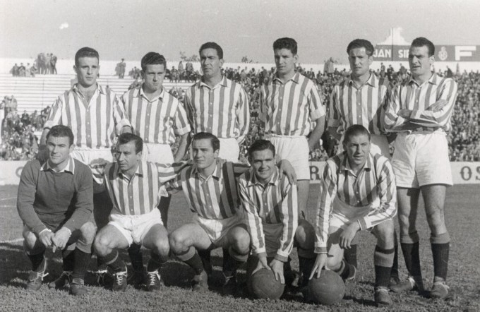 Alineación Betis- Recreativo Liga 1954 Marca 12-01-1954