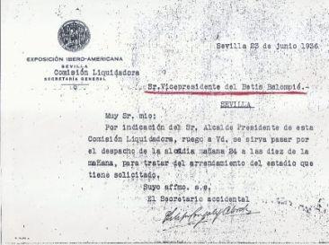 Citación Junio 1936