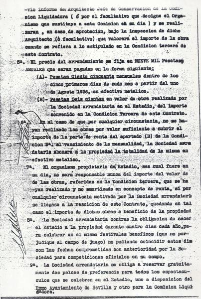 Contrato de arrendamiento Heliópolis-2 1936