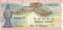 3/4 ABONO IV TROFEO CIUDAD DE SEVILLA 1975-MI LOCALIDAD.