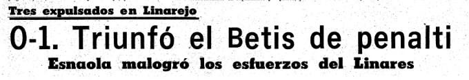 9-Septiembre 1 1973 Linares-Betis