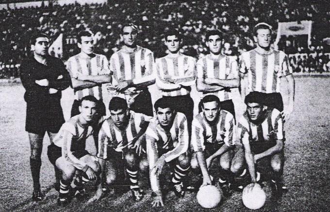 Alineación Betis-Stade Français Copa Ferias 1964 (NMP)
