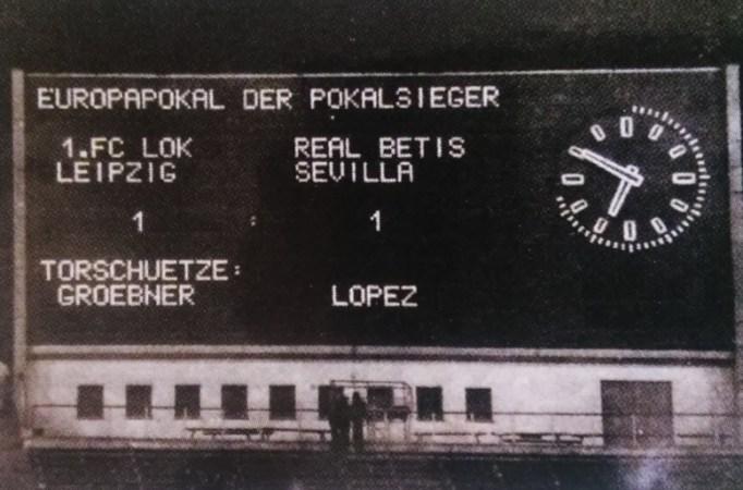 Hoy hace 43 años. Lokomotive Leipzig 1 Betis 1 en la Recopa.