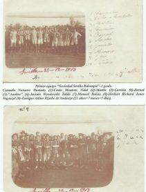 1913-Diciembre 25y26.-Sociedad Sevilla Balompié-Gibraltar Army Ordonance Corps.-103Aniversario.