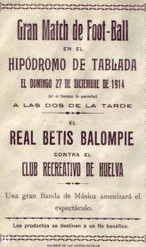 Hoy hace 105 años. Primer partido del Real Betis Balompié.